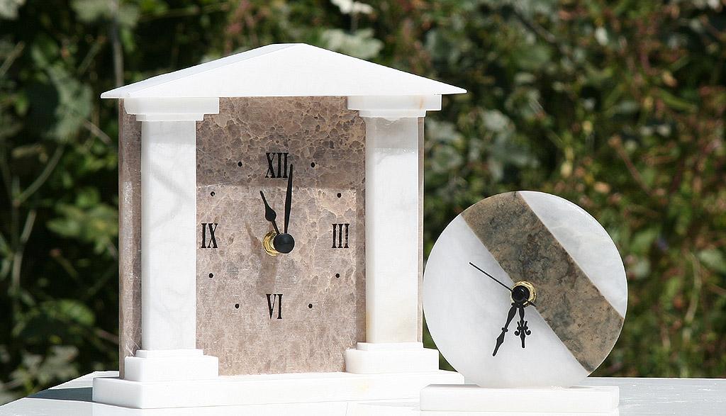 Etruria alabastri Volterra - orologio in alabastro